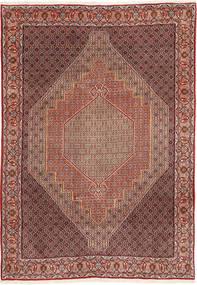 Senneh Matto 200X295 Itämainen Käsinsolmittu Ruskea/Vaaleanruskea (Villa, Persia/Iran)