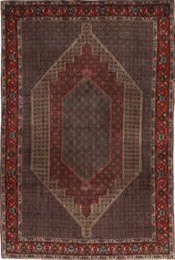 Senneh Dywan 203X305 Orientalny Tkany Ręcznie Ciemnobrązowy/Ciemnoczerwony (Wełna, Persja/Iran)