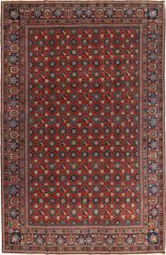 Varamin Vloerkleed 210X325 Echt Oosters Handgeknoopt Donkerrood/Donkergrijs (Wol, Perzië/Iran)