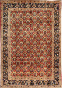 Tabriz Rug 200X290 Authentic  Oriental Handknotted Light Brown/Dark Red (Wool, Persia/Iran)