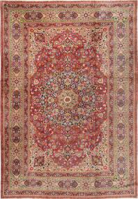Kerman Matta 325X475 Äkta Orientalisk Handknuten Brun/Mörkröd Stor (Ull, Persien/Iran)