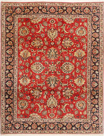 Bidjar Matta 312X402 Äkta Orientalisk Handknuten Roströd/Mörkbrun Stor (Ull/Silke, Persien/Iran)
