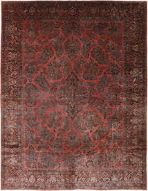 Sarouk American Rug 364X471 Authentic  Oriental Handknotted Light Brown/Brown Large (Wool, Persia/Iran)