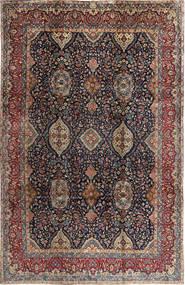 Yazd Matto 250X380 Itämainen Käsinsolmittu Musta/Vaaleanruskea Isot (Villa, Persia/Iran)