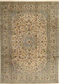 Keshan Teppe 253X358 Ekte Orientalsk Håndknyttet Lysbrun/Mørk Grå Stort (Ull, Persia/Iran)