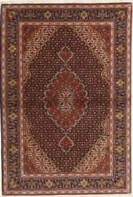 Tebriz 50 Raj Dywan 101X153 Orientalny Tkany Ręcznie Ciemnoczerwony/Ciemnobrązowy/Brązowy (Wełna, Persja/Iran)