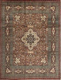 Tabriz Rug 279X371 Authentic  Oriental Handknotted Light Brown/Dark Grey Large (Wool, Persia/Iran)