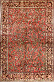 Sarouk American Rug 310X485 Authentic  Oriental Handknotted Dark Brown/Rust Red Large (Wool, Persia/Iran)