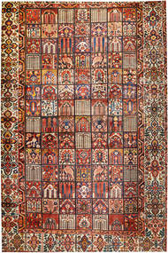 Bakhtiar Alfombra 374X570 Oriental Hecha A Mano Azul Oscuro/Rojo Oscuro Grande (Lana, Persia/Irán)