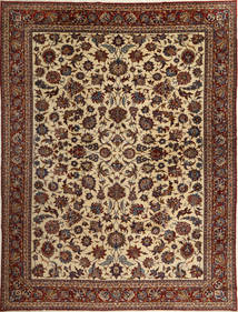 Isfahan Sherkat Farsh Rug 317X421 Authentic Oriental Handknotted Dark Brown/Light Brown Large (Wool/Silk, Persia/Iran)