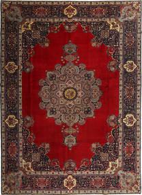 タブリーズ 絨毯 291X409 オリエンタル 手織り 深紅色の/濃い茶色 大きな (ウール, ペルシャ/イラン)