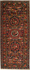 Bakhtiari Rug 160X395 Authentic Oriental Handknotted Hallway Runner Dark Red/Dark Brown (Wool, Persia/Iran)