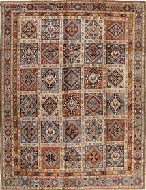 Yalameh Rug 320X418 Authentic  Oriental Handknotted Light Brown/Dark Blue Large (Wool, Persia/Iran)