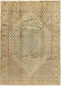 Senneh Teppich  250X350 Echter Orientalischer Handgeknüpfter Hellbraun/Dunkel Beige Großer (Wolle, Persien/Iran)