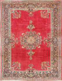 Keshan Rug 247X330 Authentic  Oriental Handknotted Light Brown/Crimson Red (Wool, Persia/Iran)
