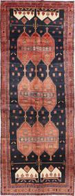 Senneh Vloerkleed 150X413 Echt Oosters Handgeknoopt Tapijtloper Donkerblauw/Bruin (Wol, Perzië/Iran)