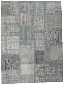 Patchwork Rug 171X230 Authentic  Modern Handknotted Dark Grey/Light Grey (Wool, Turkey)