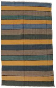 Kilim Rug 160X260 Authentic  Oriental Handwoven Brown/Dark Grey (Wool, Persia/Iran)