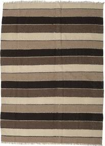 Kilim Rug 182X245 Authentic  Oriental Handwoven Light Brown/Dark Brown/Black (Wool, Persia/Iran)