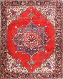 Heriz Rug 300X385 Authentic  Oriental Handknotted Rust Red/Dark Grey Large (Wool, Persia/Iran)