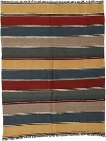 Kilim Rug 160X205 Authentic  Oriental Handwoven Light Brown/Dark Grey (Wool, Persia/Iran)