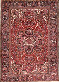 Heriz Tæppe 246X340 Ægte Orientalsk Håndknyttet Brun/Mørkerød (Uld, Persien/Iran)