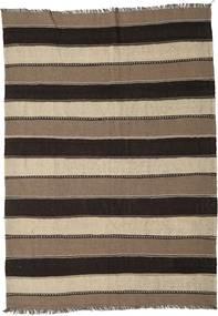 Kilim Dywan 175X245 Orientalny Tkany Ręcznie Ciemnobrązowy/Brązowy/Jasnoszary (Wełna, Persja/Iran)