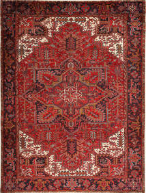 Heriz Rug 286X374 Authentic  Oriental Handknotted Dark Red/Brown Large (Wool, Persia/Iran)
