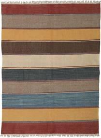 Kelim Matto 144X193 Itämainen Käsinkudottu Vaaleanruskea/Ruskea (Villa, Persia/Iran)
