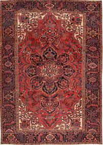Heriz Vloerkleed 231X333 Echt Oosters Handgeknoopt Donkerrood/Bruin (Wol, Perzië/Iran)