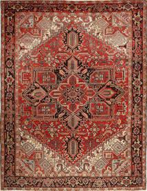 Heriz Matto 273X350 Itämainen Käsinsolmittu Tummanpunainen/Vaaleanruskea Isot (Villa, Persia/Iran)