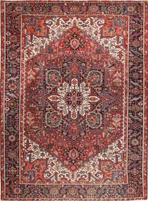 Heriz Teppich 293X393 Echter Orientalischer Handgeknüpfter Braun/Dunkelrot Großer (Wolle, Persien/Iran)