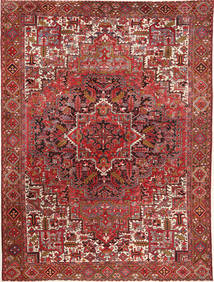 Heriz Rug 290X381 Authentic  Oriental Handknotted Brown/Dark Red Large (Wool, Persia/Iran)