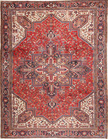 Heriz Rug 293X380 Authentic  Oriental Handknotted Brown/Dark Red Large (Wool, Persia/Iran)
