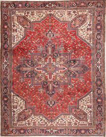 Heriz Matto 293X380 Itämainen Käsinsolmittu Ruskea/Tummanpunainen Isot (Villa, Persia/Iran)