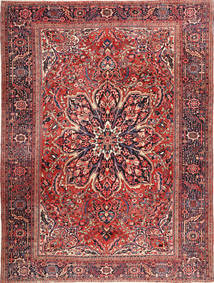 Heriz Rug 295X408 Authentic  Oriental Handknotted Brown/Dark Blue Large (Wool, Persia/Iran)