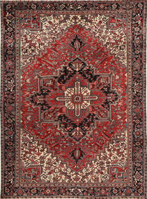 Heriz Rug 272X378 Authentic  Oriental Handknotted Dark Red/Brown/Light Brown Large (Wool, Persia/Iran)