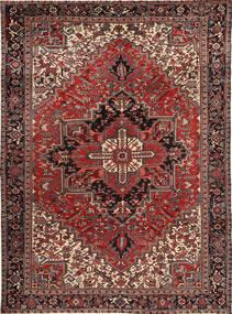 Heriz Matto 272X378 Itämainen Käsinsolmittu Tummanpunainen/Ruskea/Vaaleanruskea Isot (Villa, Persia/Iran)