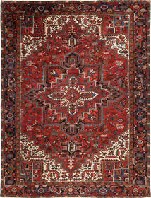 Heriz Tæppe 245X329 Ægte Orientalsk Håndknyttet Mørkerød/Brun (Uld, Persien/Iran)
