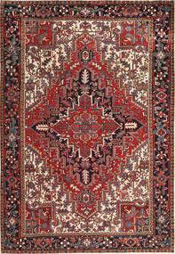 Heriz Vloerkleed 223X323 Echt Oosters Handgeknoopt Donkerrood/Bruin (Wol, Perzië/Iran)
