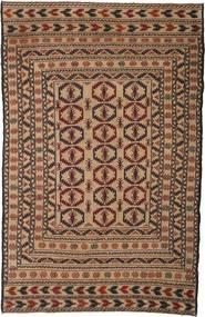Kelim Golbarjasta Matta 128X198 Äkta Orientalisk Handvävd Brun/Mörkbrun (Ull, Afghanistan)