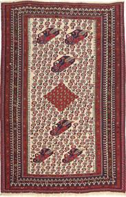 キリム ファーシュ 絨毯 109X173 オリエンタル 手織り 深紅色の/茶 (ウール, ペルシャ/イラン)