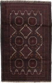Beluch Covor 116X183 Orientale Lucrat Manual Maro Închis/Roșu-Închis (Lână, Afganistan)
