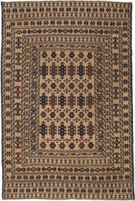 Kilim Golbarjasta Tappeto 124X188 Orientale Tessuto A Mano Marrone Scuro/Marrone Chiaro (Lana, Afghanistan)