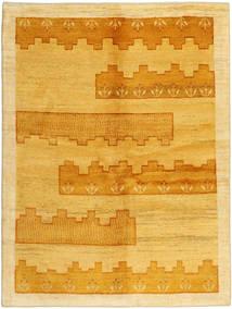 Gabbeh Persisk Matta 149X198 Äkta Modern Handknuten Gul/Ljusbrun/Orange (Ull, Persien/Iran)