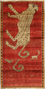 Qashqai Rug 124X255 Authentic  Oriental Handknotted Rust Red/Light Brown (Wool, Persia/Iran)