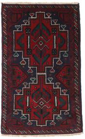 バルーチ 絨毯 90X148 オリエンタル 手織り 紺色の/深紅色の (ウール, アフガニスタン)