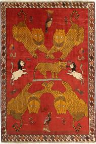 Kaszkaj Dywan 131X196 Orientalny Tkany Ręcznie Rdzawy/Czerwony/Brązowy (Wełna, Persja/Iran)