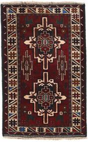 Beluch Teppe 89X138 Ekte Orientalsk Håndknyttet Svart/Mørk Rød (Ull, Afghanistan)