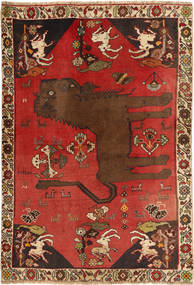 Qashqai Rug 131X193 Authentic  Oriental Handknotted Dark Red/Rust Red (Wool, Persia/Iran)